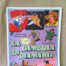 Cómics: COMIC, BRICK BRADFORD, EN ITALIANO, Nº 19, , LA BAMBOLA DE DIAMANTI, 1º PARTE , COMICS-ART, 1977,. Lote 23016795