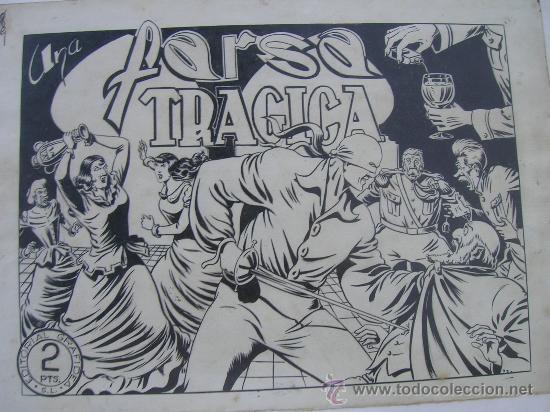 MAGNIFICO ORIGINAL PORTADA AMBROS DIBUJ CAPITAN TRUENO EL JINETE FANTASMA CORSARIO HIERRO VER FOTOS (Tebeos y Comics - Art Comic)