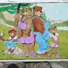 Cómics: PRUEBA PARA COMIC INFANTIL OSOS COLOR. ORIGINAL A TINTA Y ACUARELA, FIRMADO.. Lote 32480157