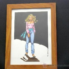 Cómics: PIN-UP 1. DIBUJO ORIGINAL FIRMADO. SIN MARCO 10€.. Lote 32484093