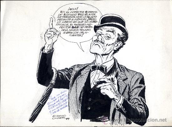 ART COMIC EUGENIO GINER INSPECTOR DAN 30 X22 CM CARPETA AMARILLA (Tebeos y Comics - Art Comic)
