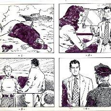 Cómics: ART COMIC ADOLFO A. BUYLLA TIRAS DE PRENSA 25.5 X 21.5 CARPET AMARILLA. Lote 36951246