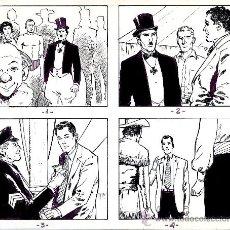 Cómics: ART COMIC ADOLFO A. BUYLLA TIRAS DE PRENSA 25.5 X 21.5 CARPET AMARILLA. Lote 36951358