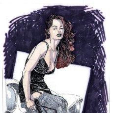 Cómics: ART COMIC ORIGINAL DE DOUGHERTY 17 X 27 CARPETA AMARILLA. Lote 37178708