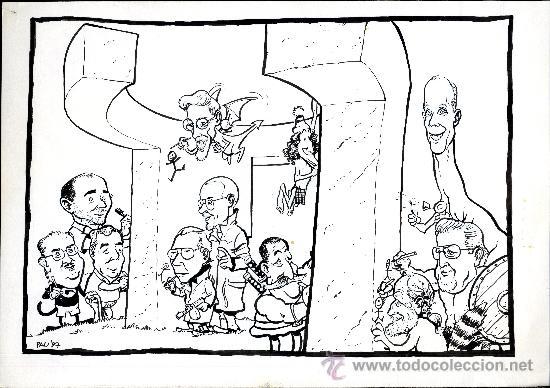 ART PAU PORTADA EL WENDIGO 43X 35 BUSCEMA, PAU, GASPAR MENANA,SERGIO ARAGONES , DAVIS LLOYD, SHULT (Tebeos y Comics - Art Comic)