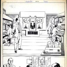 Cómics: ART COMIC ORIGINAL DE ADOLFO BUYLLA HISTORIA MUDA 2 PÁGINAS 30,6 X 43, 2. Lote 37260507