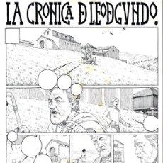 Cómics: ART COMIC ORIGINAL DE GASPAR MEANA LA CRONICA DE LEODEGUNDO DIN A3. Lote 37261001