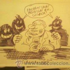 Cómics: DIBUJO ORIGINAL SIMONIDES EL VIBORA. Lote 38114829