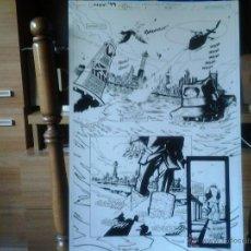 Cómics: BATMAN:TIERRA DE NADIE-CROSSOVER-EL DIA DEL JUICIO#1-P1-DEAN ZACHARY.PAGINA ORIGINAL.ART COMIC.. Lote 39777295