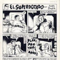 Cómics: ART COMIC EL SUPERDOTADO Y RATMAN COMPLETA 5 PÁG ORIGINALES ADOLFO A. BUYLLA VER PÁGS.SUELTAS. Lote 40040570