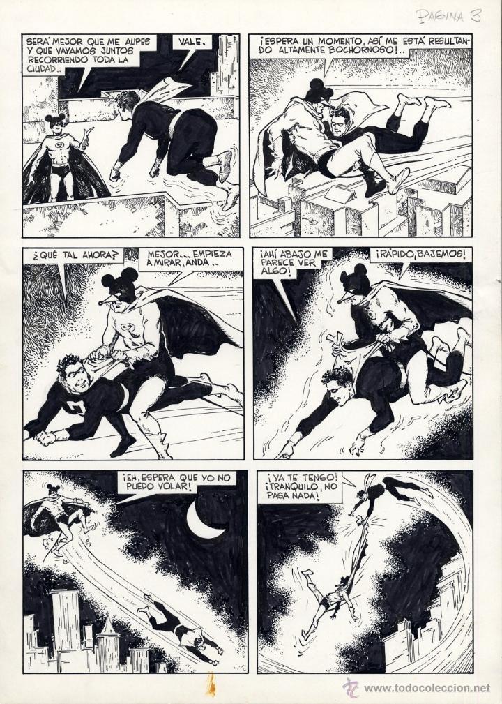 Cómics: ART COMIC EL SUPERDOTADO Y RATMAN COMPLETA 5 PÁG ORIGINALES ADOLFO A. BUYLLA ver págs.SUELTAS - Foto 3 - 40040570