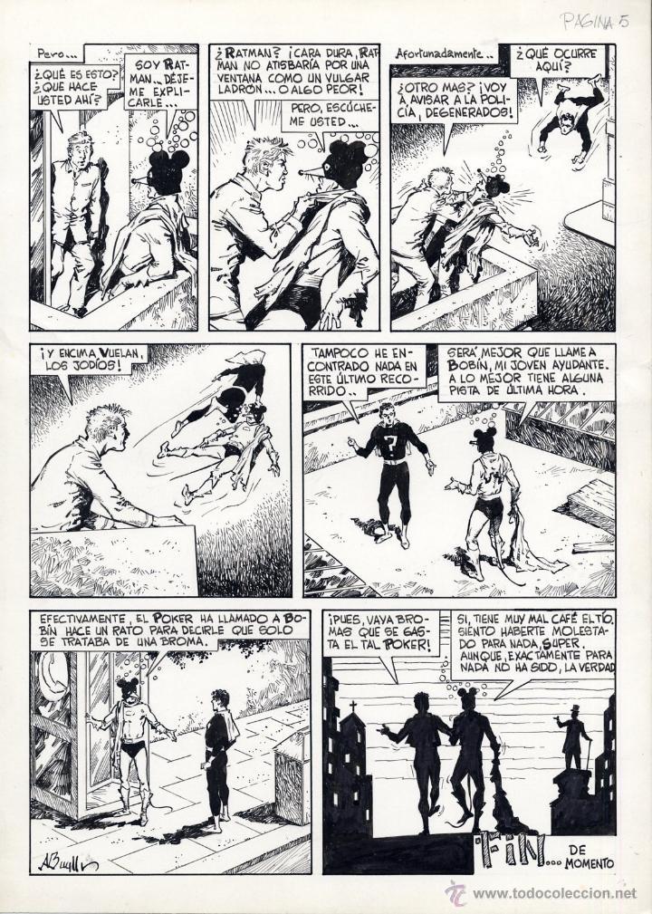 Cómics: ART COMIC EL SUPERDOTADO Y RATMAN COMPLETA 5 PÁG ORIGINALES ADOLFO A. BUYLLA ver págs.SUELTAS - Foto 6 - 40040570
