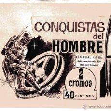 Cómics: DIBUJO ORIGINAL TINTA SOBRE DE CROMOS CONQUISTAS DEL HOMBRE FERMA AÑOS 60. ES EL ORIGINAL ARTISTICO. Lote 40890395