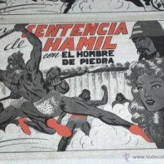 Cómics: LOTE 15 FOTOLITOS PRUEBAS DE IMPRESIÓN DE PURK HOMBRE PIEDRA Nº 7 LA SENTENCIA DE HAMIL. GAGO!!!!!!!. Lote 161450582