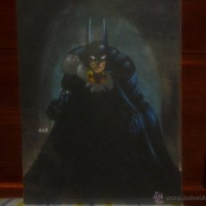 Cómics: BATMAN.PIN-UP COMISIÓN.TÉCNICA-MIXTA,ELF(FIRMADO)PÁGINA ORIGINAL ART COMIC. Lote 41422219