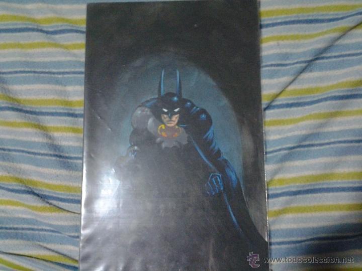 Cómics: BATMAN.PIN-UP COMISIÓN.TÉCNICA-MIXTA,ELF(FIRMADO)PÁGINA ORIGINAL ART COMIC - Foto 2 - 41422219