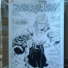 Cómics: ROBIN 100%SPLASH (NO CRY OF THE HUNTRESS) TOM LYLE(FIRMADO) PÁGINA ORIGINAL ART COMIC.. Lote 47857788