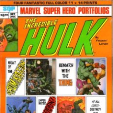 Cómics: INCREDIBLE HULK SET ONE PORTFOLIO (SQP,1980) - FASTNER AND LARSON. Lote 42176703