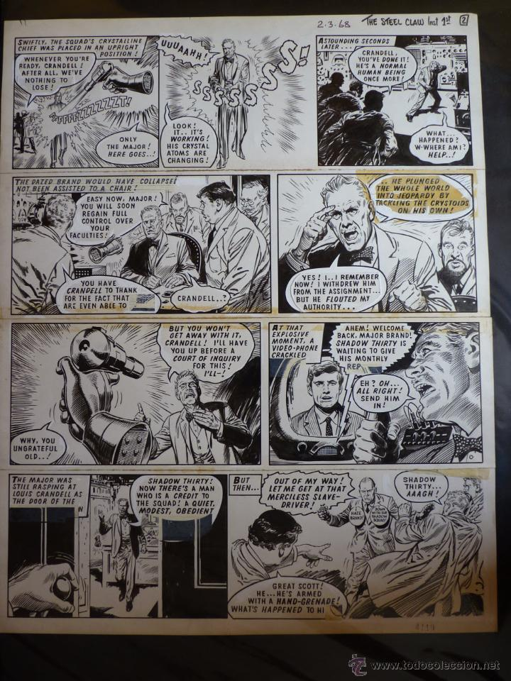 ORIGINAL JESUS BLASCO ZARPA DE ACERO (STEEL CLAW) 1968 (Tebeos y Comics - Art Comic)