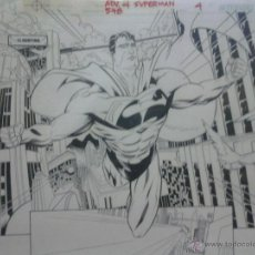 Cómics: SUPERMAN.1/2 SPLASH.PABLO RAIMONDI&JOSE MARZAN JR.PÁGINA ORIGINAL ART COMIC. Lote 42289111