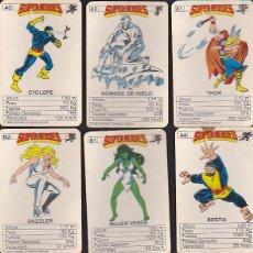 Cómics: BARAJA EDITADA POR MARVEL COMICS GROUP 1985 SUPER HEROES . Lote 42545324