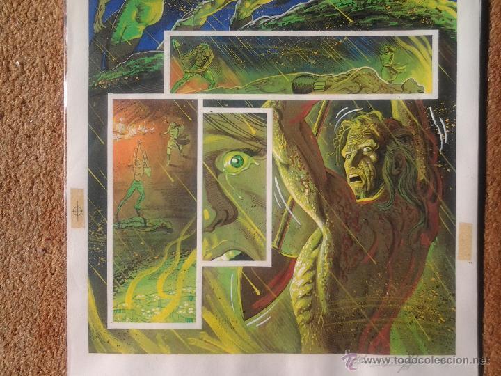 Cómics: EL NACIMIENTO DEL DEMONIO.RAS QUIEBRA BATMA(ACUARELA)NORM BREYFOGLE.PÁGINA ORIGINAL ART COMIC - Foto 2 - 42553441