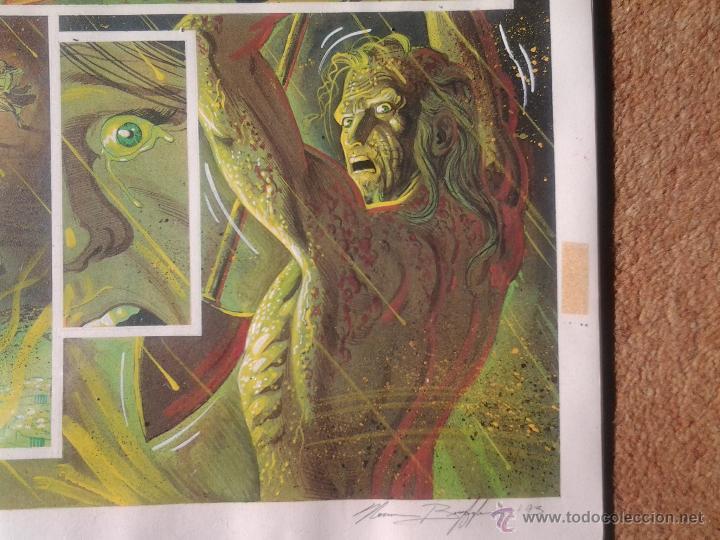 Cómics: EL NACIMIENTO DEL DEMONIO.RAS QUIEBRA BATMA(ACUARELA)NORM BREYFOGLE.PÁGINA ORIGINAL ART COMIC - Foto 7 - 42553441