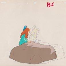 Cómics: CEL ORIGINAL DE LA SERIE ANIME HEIDI ( AÑOS 70´S ) CLARA EN CAMA ( CON LAPIZ PRELIMINAR ). Lote 42710246