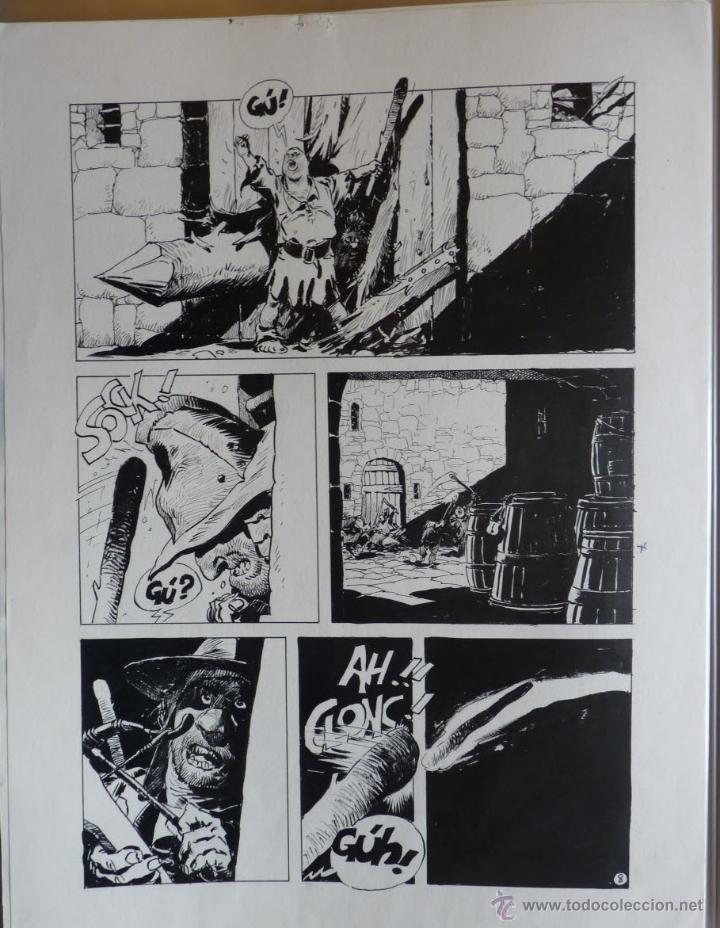 ENRIQUE BRECCIA PÁGINA ORIGINAL TINTA DE ALVAR MAYOR (Tebeos y Comics - Art Comic)