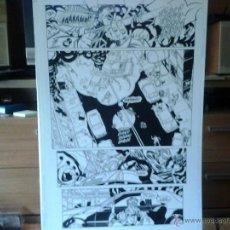Cómics: TIROTEO.BATGIRL.DAMION SCOTT.PÁGINA ORIGINAL ART COMIC. . Lote 43007118