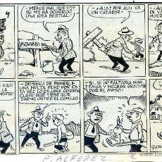 Cómics: PEDRO ALFÉREZ GONZÁLEZ INCA, BALEARES 1925 - BARCELONA, 1987 DIBUJO ORIGINAL HISTORIETA TINTA. Lote 43277087
