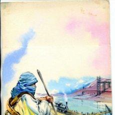 Cómics: TOMAS PORTO Y DEL VADO MADRID 1918 DIBUJO ORIGINAL CONSTRUCCION CANAL DE SUEZ. Lote 43277123