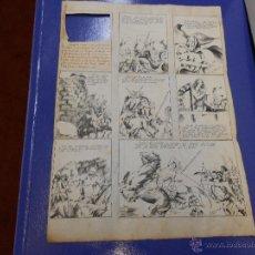 Cómics: DIBUJO ORIGINAL PAGINA DIBUJADA POR J.GRAU - CON REVERSO DIBUJADO Y TACHADO. Lote 43633513