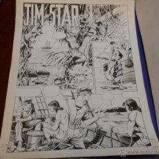 Cómics: JIM STAR - PAGINA ORIGINAL 55 X 44 CENTIMETROS - PAGINA 1. Lote 43634203