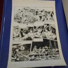 Cómics: JIM STAR - DIBUJO ORIGINAL DE VICENTE RAMOS 47 X 32 CENTIMETROS - PAGINA 2. Lote 43634218