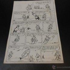 Cómics: DIBUJO ORIGINAL PAGINA DIBUJADA POR GIN - 37 X 25,5 CMS.. Lote 43652859