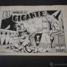 Cómics: CUENTO DE HADAS-DIBUJO ORIGINAL DE MARTINEZ OSETE-EL ANILLO DEL GIGANTE-COMPLETO. Lote 43789377