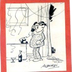 Cómics: ALBERDI (JOSEP MARÍA ALBERDÍ) DIBUJO ORIGINAL FIRMADO ALBERDI PUBLICADO EN PATUFET. Lote 42898954