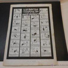 Cómics: PAGINA COMICA ORIGINAL DE JOSE GRAU - CANUTILLO CANTAMAÑANA. Lote 44045288