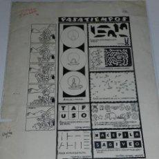 Cómics: (M-804) DIBUJO ORGINAL POR MARTI - PASATIEMPOS - 47 X 34 CM, EDT CLIPER , SEÑALES DE USO. Lote 44159171
