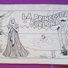 Cómics: DIBUJO ORIGINAL PLUMILLA, LA PRINCESITA BURLONA, CASCABEL, CONSUELO ARIZMENDI, 11 HOJAS,. Lote 45266786