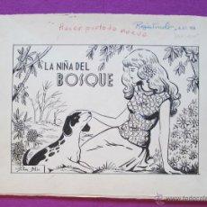 Cómics: DIBUJO ORIGINAL PLUMILLA, LA NIÑA DEL BOSQUE, CASCABEL, PILAR MIR, 11 HOJAS,. Lote 45266931