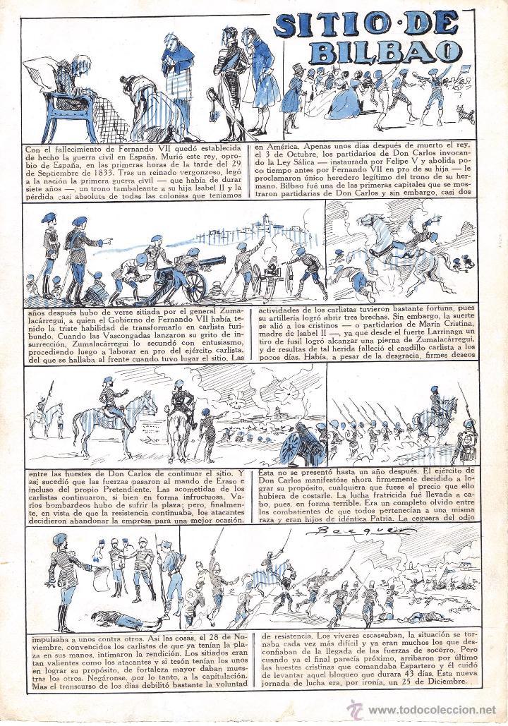 ORIGINAL DE BECQUER EL SITIO DE BILBAO (Tebeos y Comics - Comics - Art Comic)