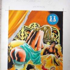 Cómics: DIBUJO ORIGINAL PORTADA ASTROSEX , Nº 5 , SERIE ZODIACO , SIGNO GEMINIS ,COLOR , A. Lote 45711020