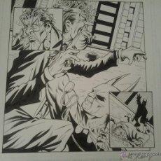 Cómics: BATMAN:CACOFONIA.WALT FLANAGAN.PAGINA ORIGINAL.ART COMIC.. Lote 45989882