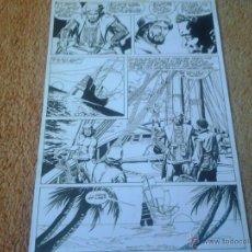 Cómics: ROBINSON CRUSOE.MUNDICOMICS CLASICOS.PAGINA ORIGINAL.ART COMIC.. Lote 45990217