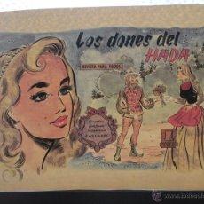 Cómics: DIBUJO ORIGINAL PLUMILLA, LOS DONES DEL HADA, 11 HOJAS, CONSUELO ARIZMENDI, CASCABEL, 1958,. Lote 46316000