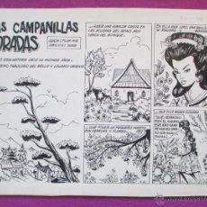 Cómics: DIBUJO ORIGINAL PLUMILLA, LAS CAMPANILLAS DORADAS, 10 HOJAS, PILAR MIR, CASCABEL,1960, C13. Lote 46316230
