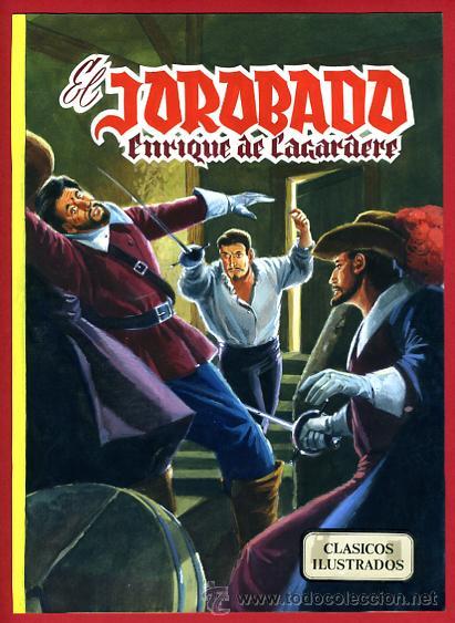 DIBUJO ORIGINAL COLOR, PORTADA EL JOROBADO , DE CLASICOS ILUSTRADOS , ORIGINAL, B (Tebeos y Comics - Art Comic)