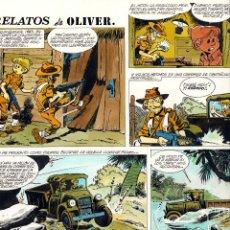 Cómics: ART COMIC CHIQUI DELA FUENTE PREMIO HAXTUR OLIVER COLOR TAMAÑO 37 X 51 CARPETA CHIQUI ADJUNTA FOTOS. Lote 46410320